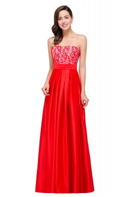 EVERLY | A-line Sleeveless Sweetheart Floor-Length Red Chiffon Prom Dresses_8