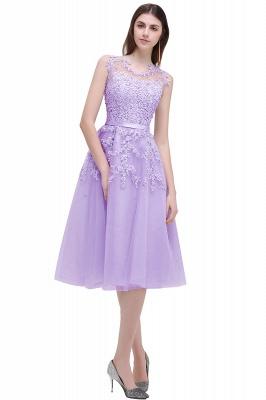 EMORY | Crew Tea Length Lace A-Line Appliques Short Prom Dresses_4