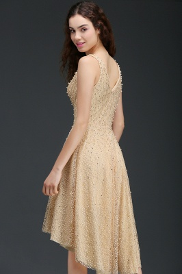 A-line Hi-Lo Popular Homecoming Dress With Pearls_5