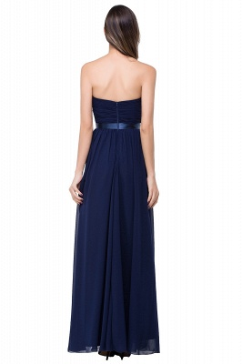 ADELINA | Simple A-line Strapless Chiffon Bridesmaid Dress with Draped_6