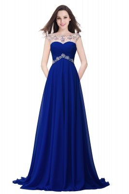 Cheap A-line Sweetheart Chiffon Evening Dress With Crystal in Stock_3