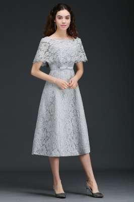 ALEXIS | Cheap Off Shoulder Tea-Length A Line Lace Homecoming Dresses With Sash_7