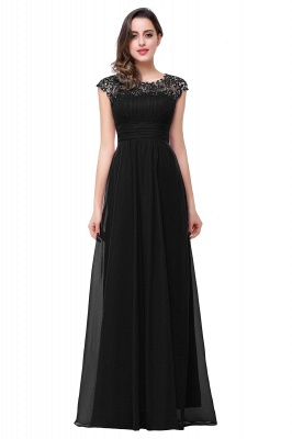 EMMELINE | Affordable A-Line Cap Sleeves Floor-Length Chiffon Prom Dresses_3