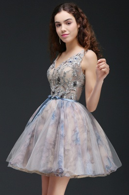 A-line Short Cute Homecoming Dress With Appliques_6