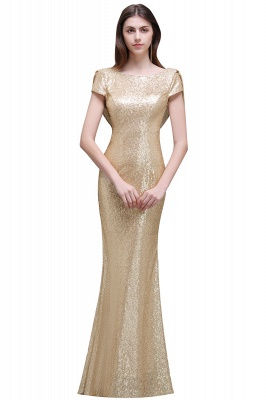 Cheap Women Sparkly Rose Gold Long Sequins Bridesmaid Dress in Stock_3