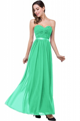 ADELINA | Simple A-line Strapless Chiffon Bridesmaid Dress with Draped_4