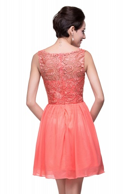 Cheap Short Chiffon Homecoming Dresses | Affordable Knee Length Chiffon Lace Party Dresses_11
