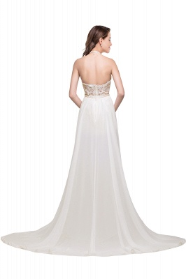 ADELE | A-line Halter Chiffon Lace Evening Dress_2