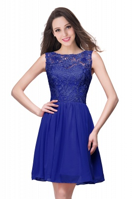Cheap Short Chiffon Homecoming Dresses | Affordable Knee Length Chiffon Lace Party Dresses_5