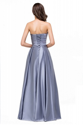 Elegant Long A line Strapless Prom Gown Evening Dress In Stock_3