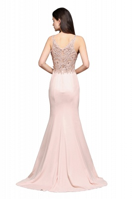 ALLYSON | Mermaid V-Neck Pearl Pink Prom Dresses with Beads_3