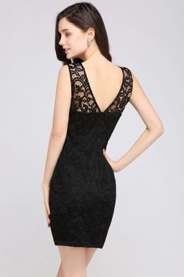 ARYA | Cheap Sheath Scoop Black Lace Homecoming Dresses | Sexy Short Prom Dresses_7