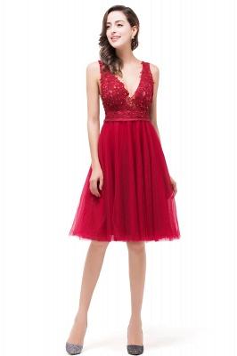 EVIE | A-Line Deep V-Neck Sleeveless Short Prom Dresses with Appliques_6
