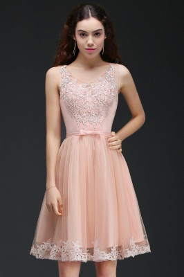 ANIYAH | A-line Short Cute Homecoming Dress With Lace_4