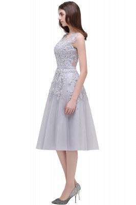 EMORY | Crew Tea Length Lace A-Line Appliques Short Prom Dresses_12