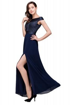 Sheath Off Shoulder Floor-Length Chiffon Prom Dresses_5