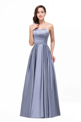 Elegant Long A line Strapless Prom Gown Evening Dress In Stock_2