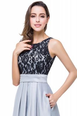 ELLIE | Elegant A-line Floor-length Crew Chiffon Lace Bridesmaid Dresses_8
