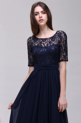 Cheap Half-Sleeve Lace Long Chiffon Evening Dress in Stock_12