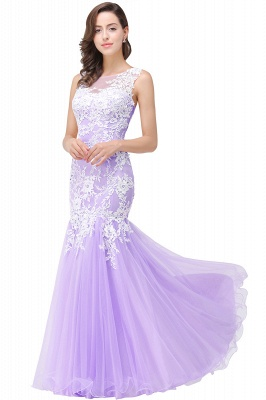 Long Lace Mermaid Sleeveless Maxi Prom Dress_4