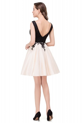 Cheap Short A Line Applique Tutu Prom Party Dress in Stock_8