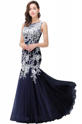 Long Lace Mermaid Sleeveless Maxi Prom Dress_6