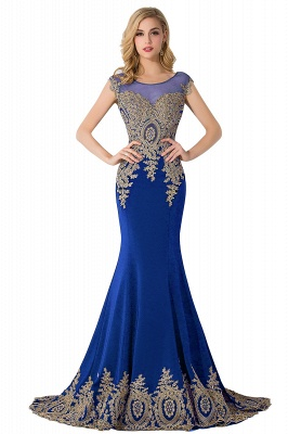ABIGAIL   Mermaid Court Train Chiffon Evening Dress with Appliques_3