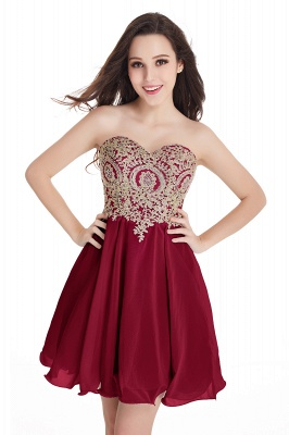 Sweetheart Mini Cheap Appliques Short 2019 Homecoming Dresses_2