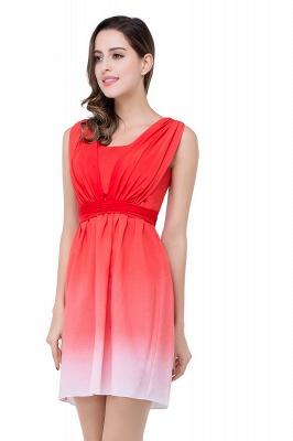 ADRIANA   A-line Jewel Red Bridesmaid Dress_6