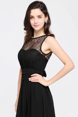 CHARLOTTE  Floor-length Black Chiffon Sexy Prom Dresses | Black Evening Dresses_8