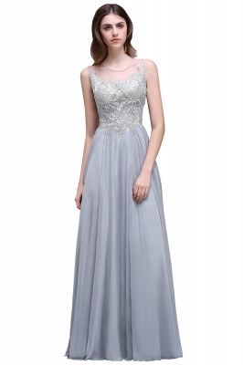 Cheap Gorgeous Lace Chiffon Long Prom Dress in Stock_2