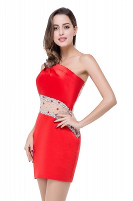 Cheap Cheap Crystal Beading One-shoulder Short Mermaid Prom Dress in Stock_14