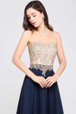 Cheap Sheer Tulle A-line Chiffon Beads Lace Appliques Sleeveless Long Evening Dress in Stock_8