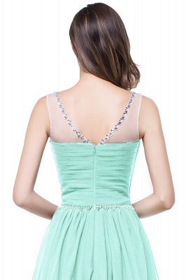 A-line Court Train Chiffon Cheap Party Dress With  Beading_10