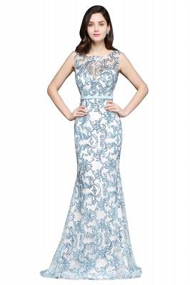 Mermaid Sweep Train Lace Evening Dresses_1