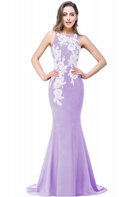 Cheap Mermaid Evening With Appliques For Women Formal Long Prom Dress in Stock_2