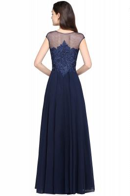 Cheap Cap Sleeve Lace Appliques Long Chiffon Evening Dress in Stock_3