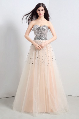 CECELIA   A-line Strapless Tulle Party Dress With  Sequined_4