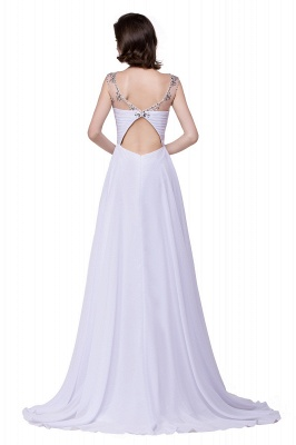 Cheap A-line Sweetheart Chiffon Evening Dress With Crystal in Stock_5
