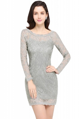 Lace Sheath Sexy Black Homecoming Dresses with Long Sleeves_8