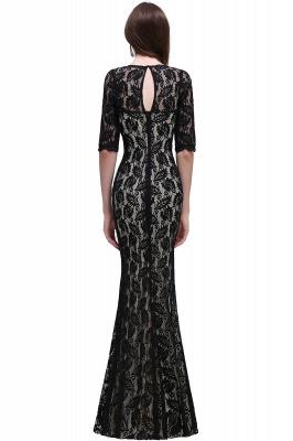 Mermaid Jewel Lace Black Sexy Evening Dresses_3