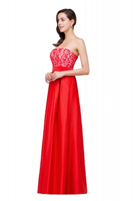 EVERLY | A-line Sleeveless Sweetheart Floor-Length Red Chiffon Prom Dresses_4