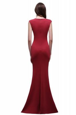 Sheath Scoop Floor-Length Elegant Evening Dresses_3