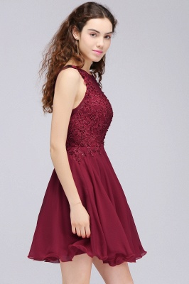 Cheap Burgundy A-line Homecoming Dress with Lace Appliques in Stock_11