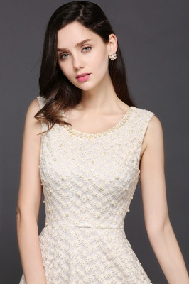 Princess Scoop neck Knee-length Lace Sexy Prom Dress_6