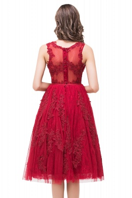 ADELINE | A-line Short Tulle Evening Dress with Appliques_4