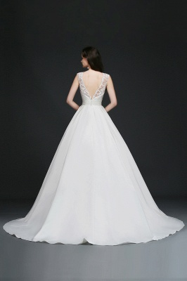 ELIZABETH | A-line Sleeveless Floor-length Chiffon Lace Wedding Dresses_7