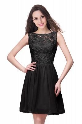 Cheap Short Chiffon Homecoming Dresses | Affordable Knee Length Chiffon Lace Party Dresses_7