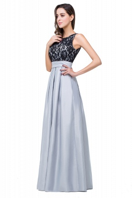 ELLIE | Elegant A-line Floor-length Crew Chiffon Lace Bridesmaid Dresses_6