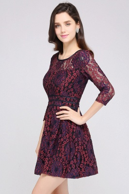 ANNIKA | A-line Scoop Short Lace Cocktail Dresses_2